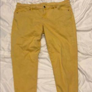 Lane Bryant Gold Ankle Jeans sz 22